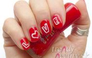 Zdobenie nechtov na Valentína
