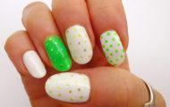Zeleno – biele nechty