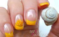 Slnečný vzor aj na gélové nechty