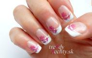 Ružový kvietok- vzor aj na gélové nechty