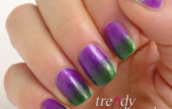 Fialovo zelené nechty