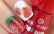 Jahodová manikúra & Strawberry manicure