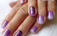Manikúra pre Martu – fialový gradient