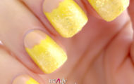 Sally Hansen – Yellow nail design