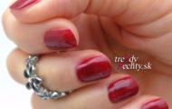 Červená manikúra & red manicure