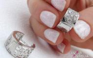 Ľadový vzor – winter manicure