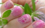 Ružový vzor & pečiatkovanie